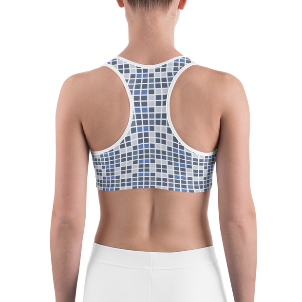 Barcelona Blue Sports Bra