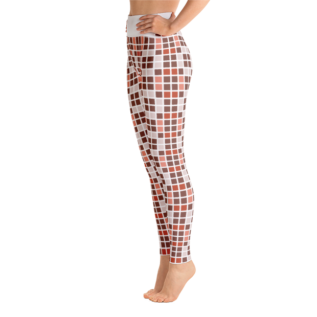 Barcelona Red Yoga Leggings
