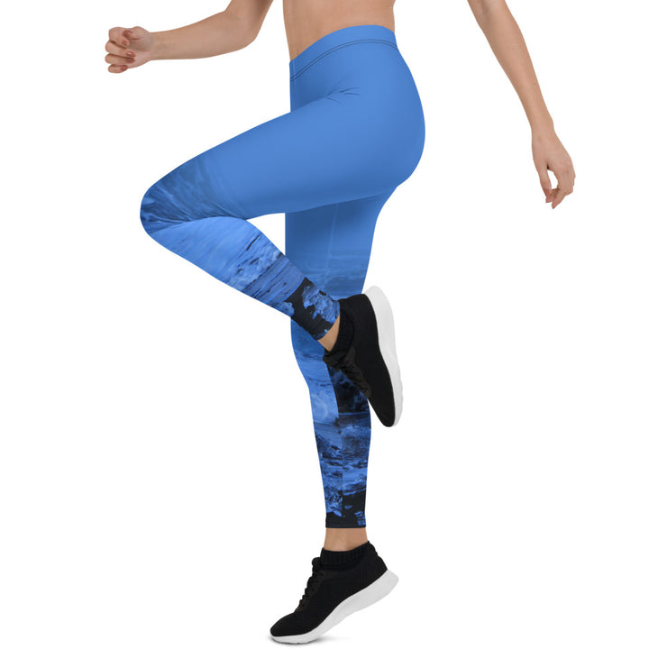 Light Blue Sea-at-night Leggings Updated