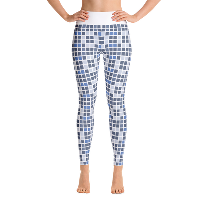 Barcelona Blue Yoga Leggings
