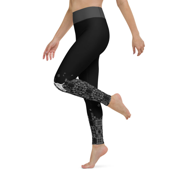 Ram Skull Pattern Yoga Leggings