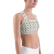 Barcelona Pale Beige Sports Bra