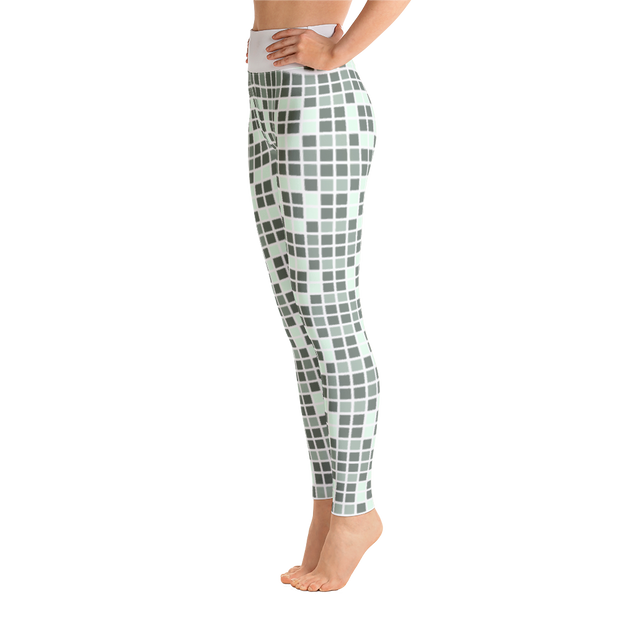 Barcelona Pale Green Yoga Leggings