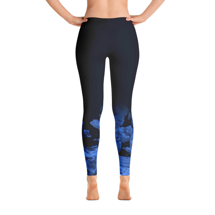 Dark Blue Seat-at-Night Leggings