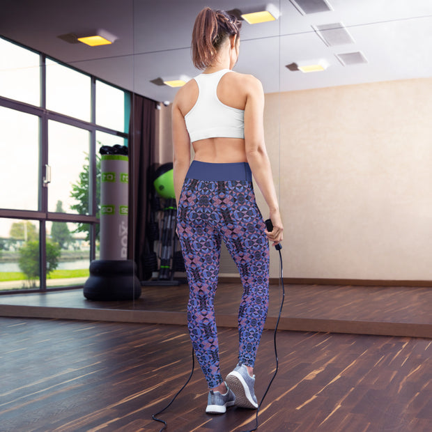 Dusk Roses Yoga Leggings