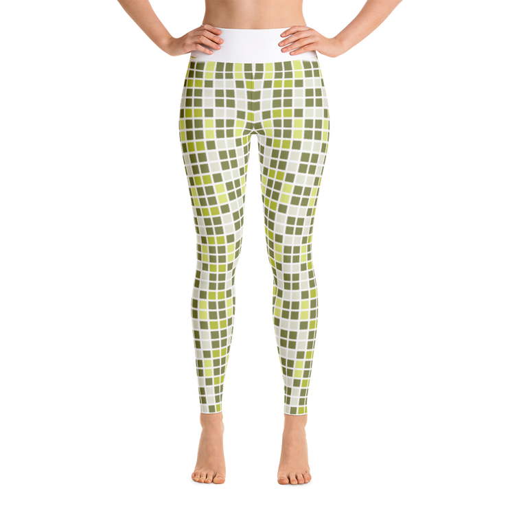 Barcelona Green Yoga Leggings
