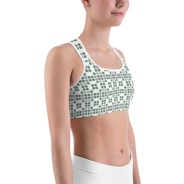 Barcelona Pale Green Sports Bra