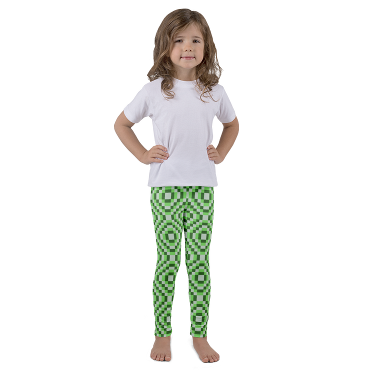 8-bit Green Kids Leggings