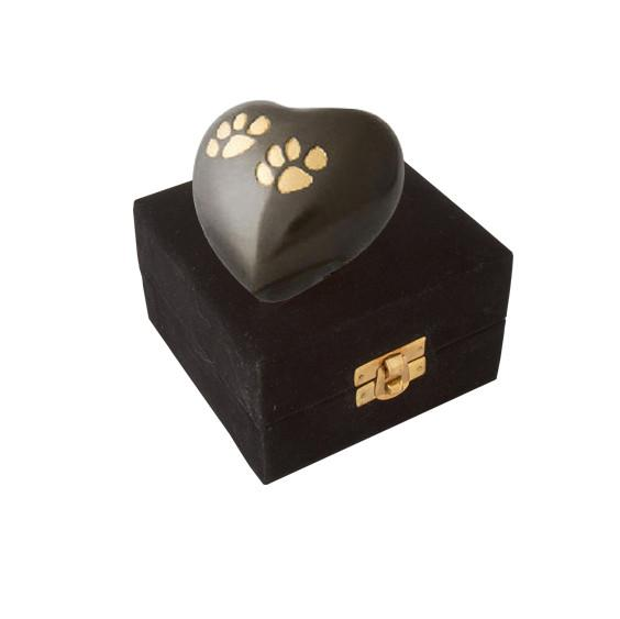 Eternal Heart Keepsake Slate / Bronze Double Paw