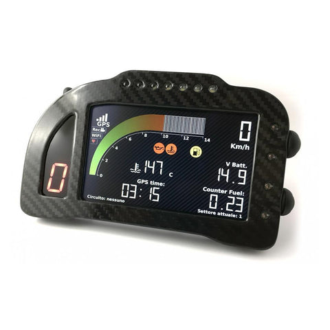 I2M Chrome Pro GPS SuperbikeDash with Bluetooth heart monitor display