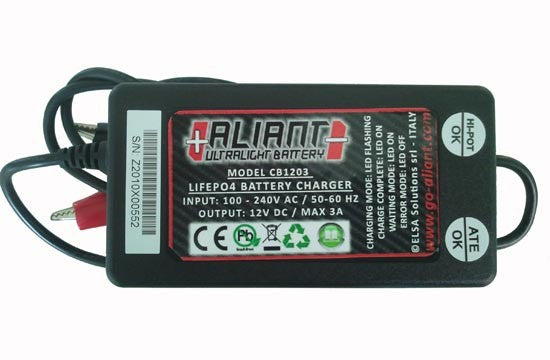 Aliant Lithium Battery Charger, Battery Charger, Aliant - Race and Trackday Parts