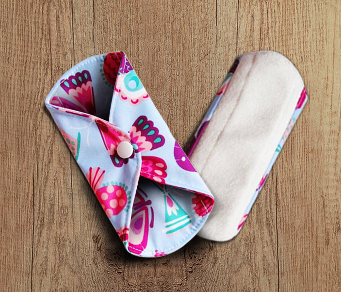 Reusable Sanitary Pads - (Pack of 5) | Organic Healthy Pads