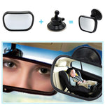 2 in 1 Mini Car Back Seat Rearview Mirror| Adjustable | Monitor Baby Kids Car Accessories