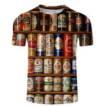 SLEEK-T | 3D Beer Print Unisex T-shirt | Best Beer Print T-Shirts 2019