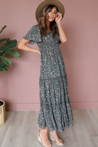 The Eden Maxi in Jasper Floral Curvy