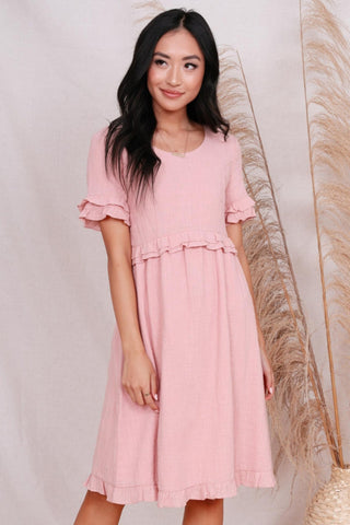 The Reese Midi Dress in Pink