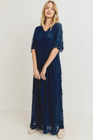 The Carmen Lace Maxi in Navy