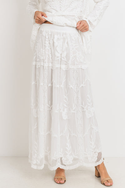 The Hope Lace Maxi Skirt
