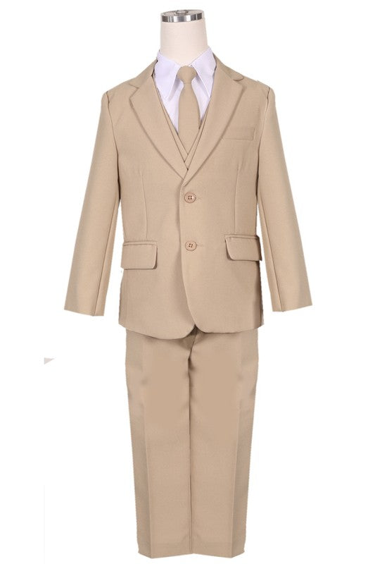 The Jack 5 Piece Suit in Khaki