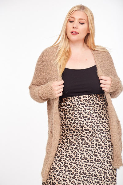 The Brynn Sweater Knit Cardigan in Mocha