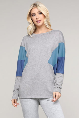 The Macy Oversize Color Block Top