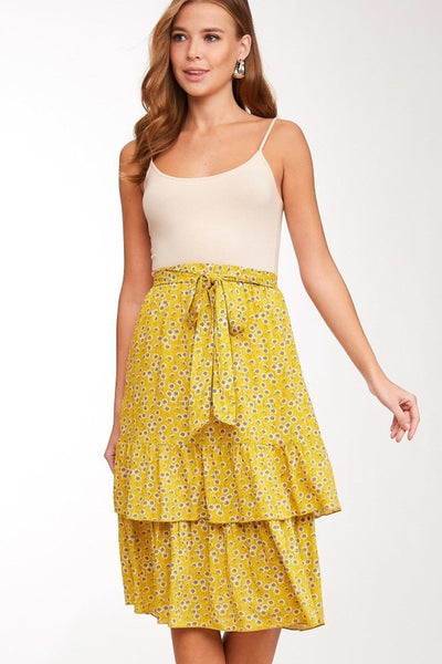 The Sheldon Floral Print Ruffle Skirt