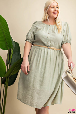 The Sidney Day Dress in Sage