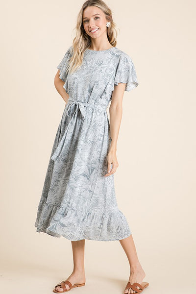 The Eliza Floral Ruffle Hem Dress