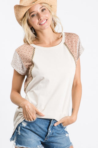 The Andie Contrast Top in Cream