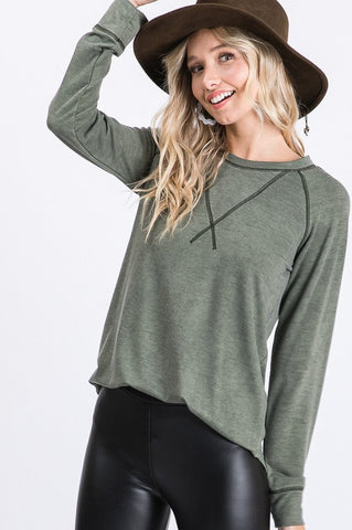The Cambri Top in Vintage Olive
