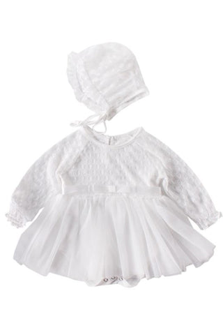 The Chantelle Oval Lace Dress & Bonnet
