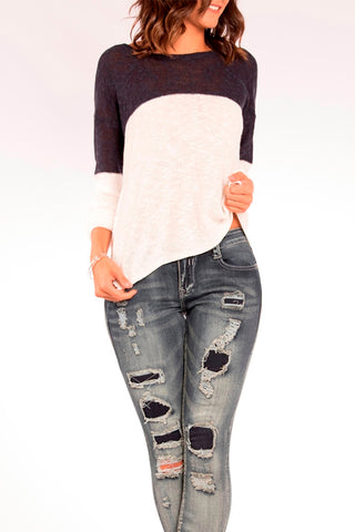 The Mia Destructed Skinny Jean in Hurricane
