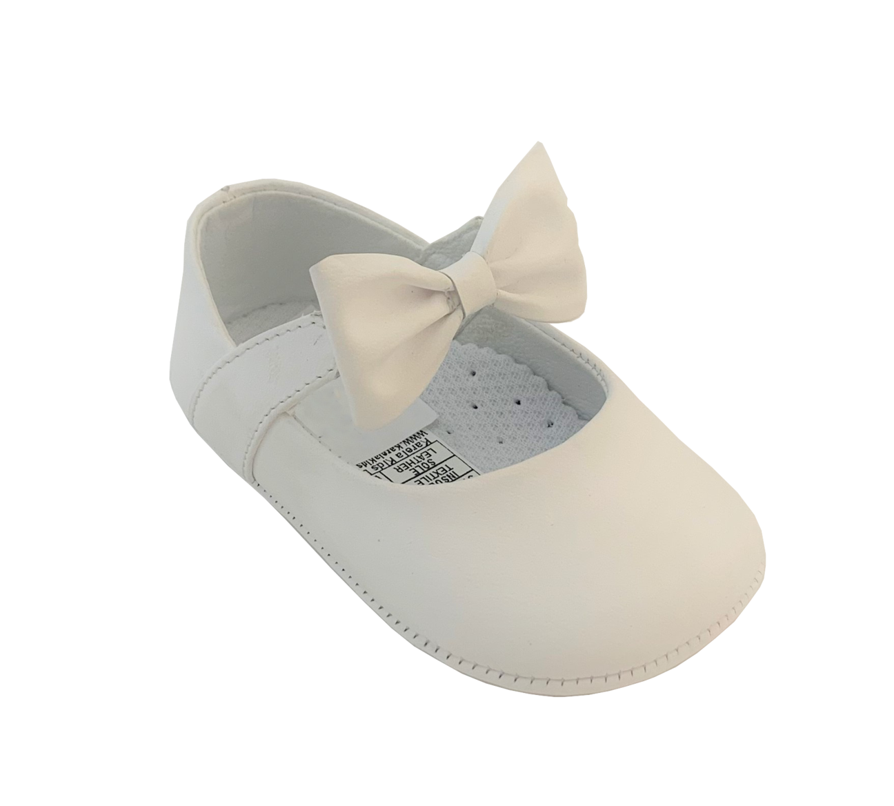 The Kinsley Leather Bow Shoes in White