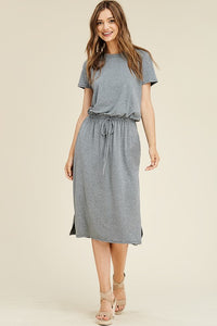 The Elena T-Shirt Dress in Gray