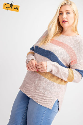 The Linn Striped Sweater Top