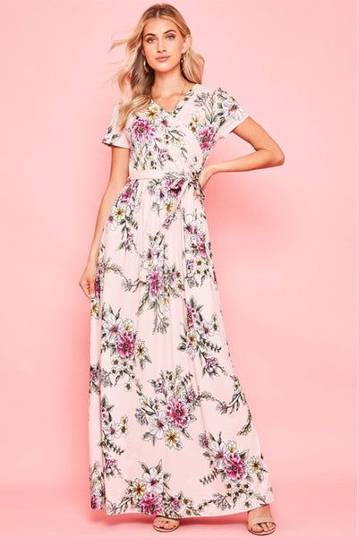 The Darcie Maxi in Pale Pink