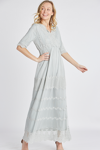 The Cove Lace Maxi in Lt Sage