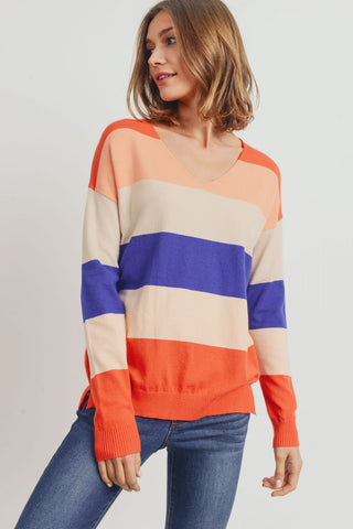 The Dawson Striped Sweater in Multi