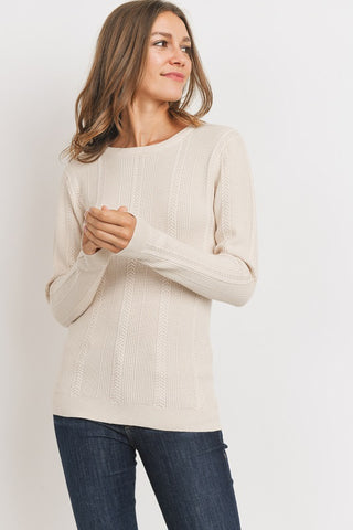 The Serenity Ribbed Sweater in Oatmeal