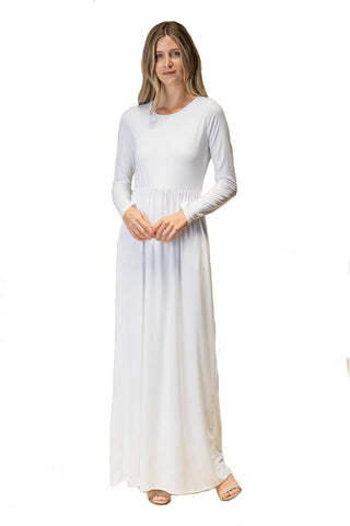 The Peyton Long Maxi Dress in White