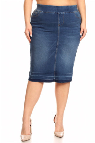 The Teagan Denim Skirt in Indigo