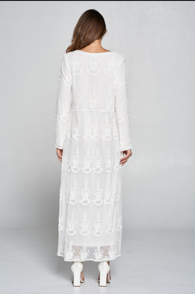 The Eden Lace Dress in White