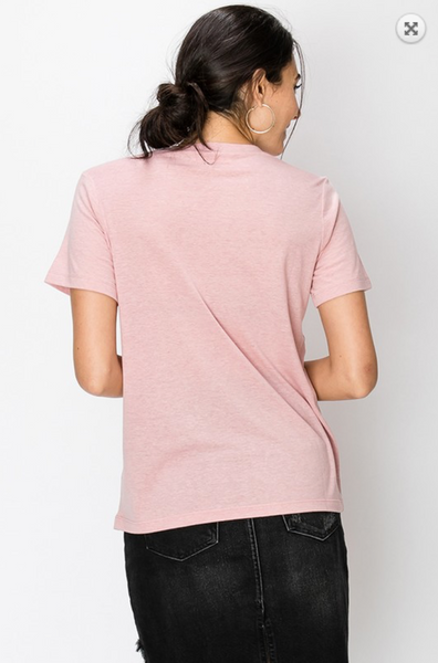 The Everyday Crew Neck Tee in Dusty Pink