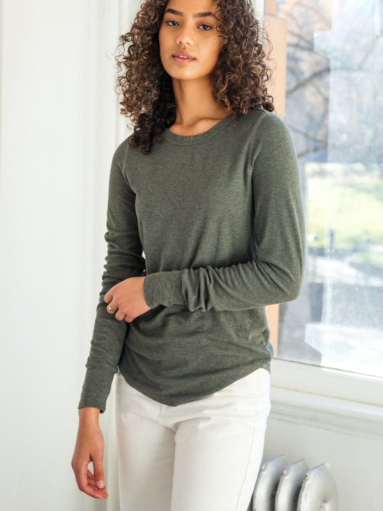 The Stacy Top in Eucalyptus