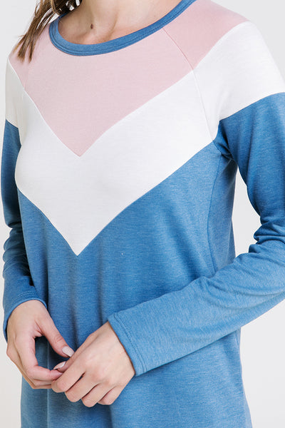 The Cami Chevron Knit Top in Periwinkle