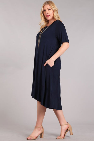 The Callie A-Line Dress in Navy