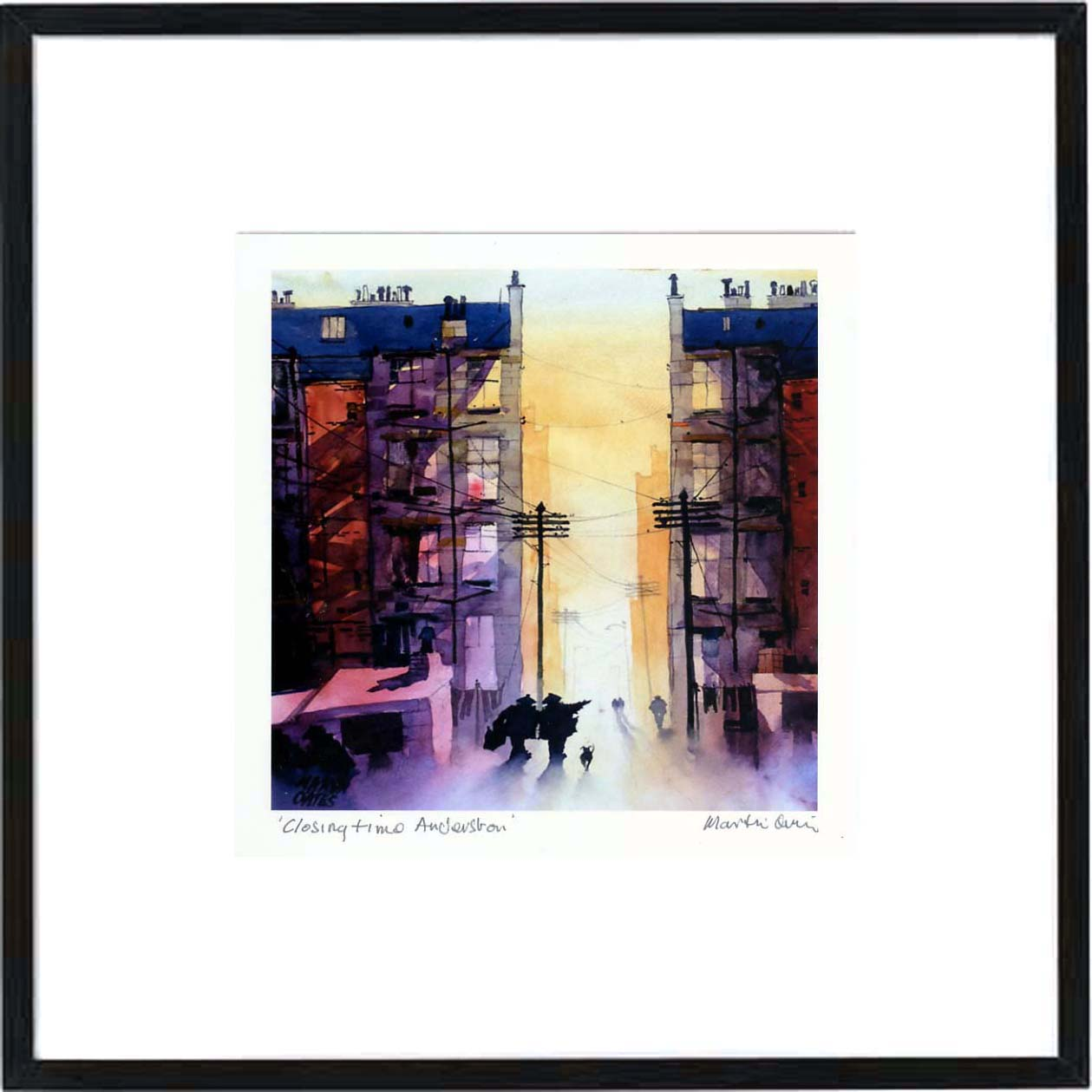 Closing Time Anderston Framed Print