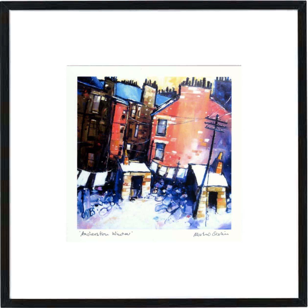 Anderston Winter Framed Print