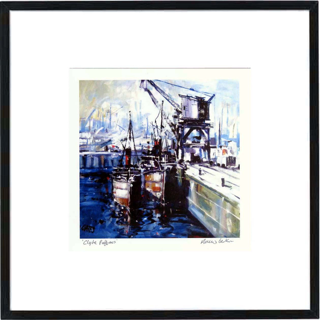 Clyde Puffers Framed Print