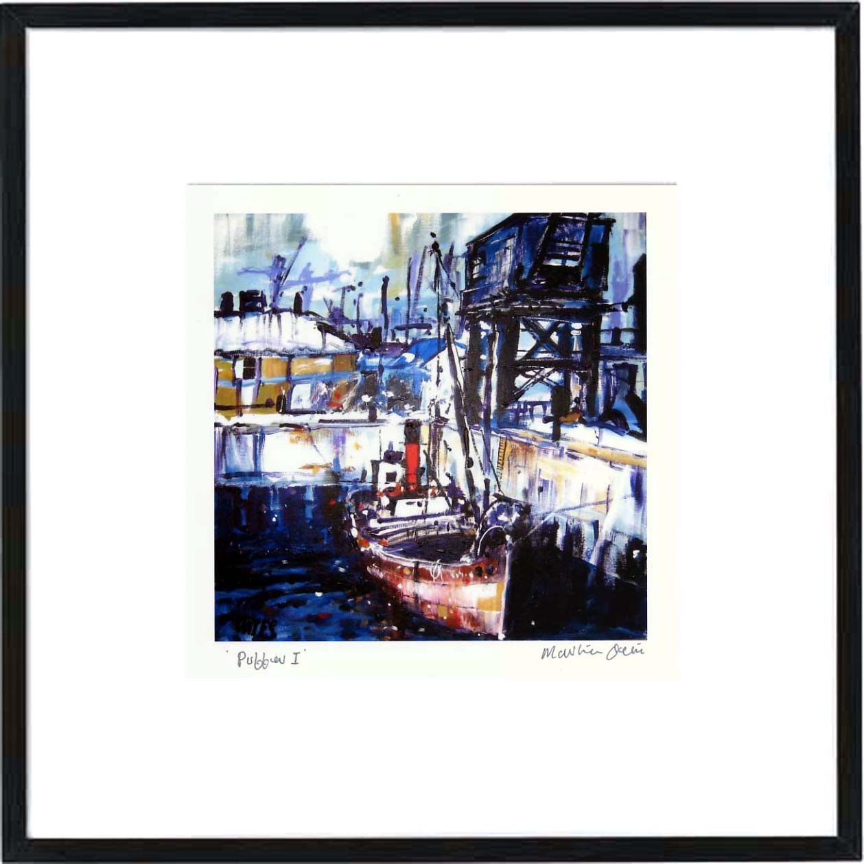 Puffers 1 Framed Print